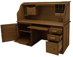 Oak Computer Desk With Hutch by Home Roll Top Desks Solid Oak Rolltop Computer Desk In Cherry