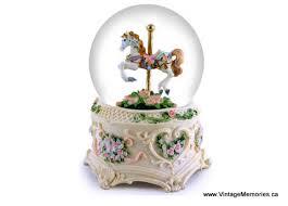 musical carousel snow globe globes snow globes