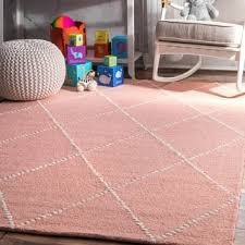 Pink Area Rug 5x8 Dots 5x8 6x9 Rugs For Less Overstock