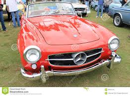 car mercedes red classic red merc sports car editorial image image 35055105