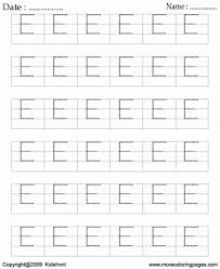 printable block letter dot to dots e coloring worksheets free