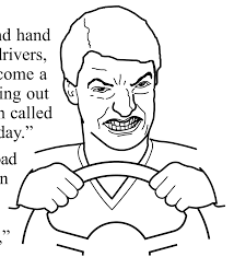 Meme Faces In Text Form - psbattle this road rage face from the oklahoma driver s ed manual