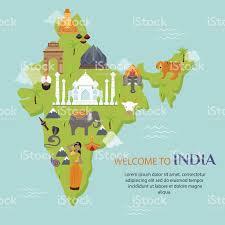 imagenes de archivo libres de derechos monumento de la india mapa de ilustración de vectores viajes arte