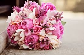 wedding flowers pink pink assortment bouquet bouquet wedding flower