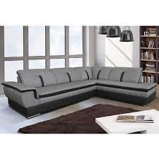 canapé angle tissu gris canapé d angle marion gris noir angle droit achat vente canapé