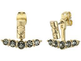 iconic earrings house of harlow 1960 iconic etch ear jacket earrings in metallic