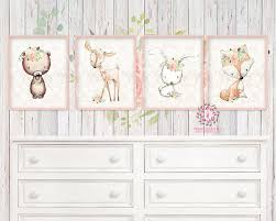 Bunny Rabbit Home Decor 4 Deer Fox Bunny Rabbit Bear Nursery Printable Print Wall Art