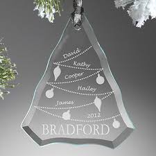 family tree engraved glass ornament personalized family
