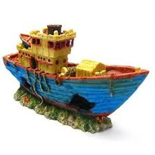 fishing boat 10 8 ancient ship aquarium ornament decoration