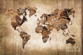 wood world wood world map photograph by delphimages photo creations