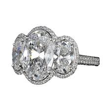 oval cut diamond engagement ring with oval cut diamonds