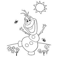 snowman frozen coloring pages olaf