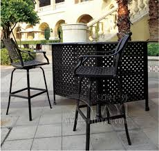 Aluminium Bar Table 3 Piece New Design Long Bar Table And Chair Cast Aluminum Garden