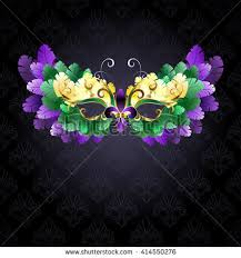 green mardi gras mask mardi gras gold mask green purple stock illustration 414550282