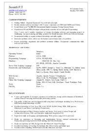 Sample Resume For Java J2ee Developer Sumith Cv Dec 2015