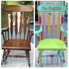 Let Me Be Your Rocking Chair Refinished Colorful Teacher Rocking Chair Step 1 Buy A De