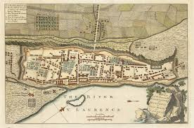 Map Of Western Canada by 1759 Plan Of The Town And Fortification Of Montreal Or Ville Marie