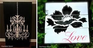 Chandelier Stencils Black Is Back Stencil Stories