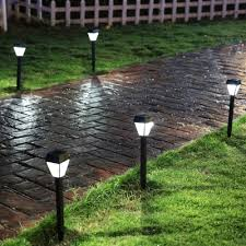solar powered outdoor l post lights fashion style post lights pathway lighting solar lights