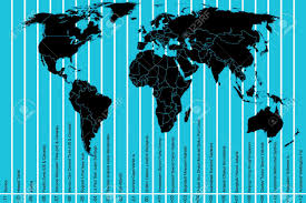 World Time Map World Map And Time Zones Royalty Free Cliparts Vectors And Stock