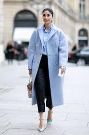 women u0027s light blue coat light blue dress shirt black dress pants