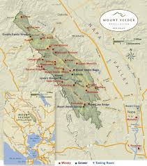 Sonoma Winery Map Mt Veeder Appellation Napa Valley