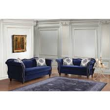 furniture of america zaffiro livingroom set in royal blue local