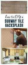 how to diy a subway tile backsplash bright green door