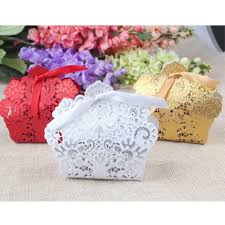 Wedding Gift Card Laser Cut Hollow Candy Box For Wedding Gift Box Fill With Candy