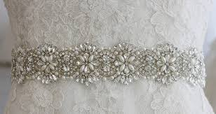 exclusive art deco austria rhinestone crystal pearl bridal sash