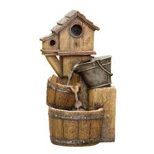 fountain cellar bird house outdoor water fountain without light