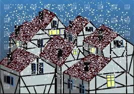 snowfall in cute german village vector image 27447 u2013 rfclipart