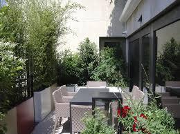 amenagement terrasse paris jardinière en fibro ciment rectangulaire sur mesure