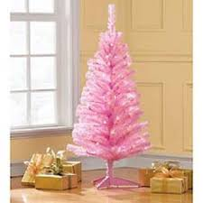 4 pre lit pink tinsel artificial tree clear lights
