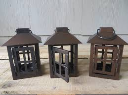 rustic finish square mini lantern table decoration wedding