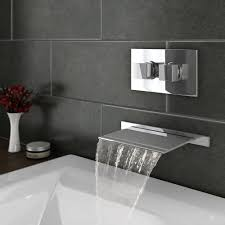 plaza wall mounted waterfall bath filler with concealed