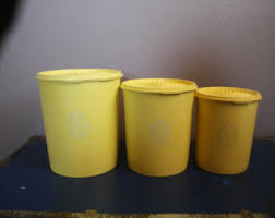yellow canister sets kitchen yellow canister set etsy