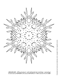 crystal snowflake coloring u0026 coloring pages