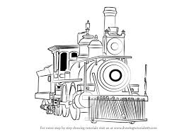learn how to draw steam locomotive trains step by step drawing