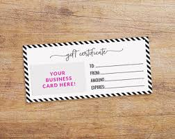 gift cards for small business printable gift card etsy