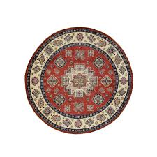 Red Oval Rug 8 Ft