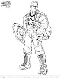 captain america coloring boys coloring pages