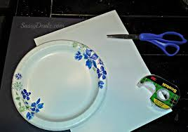 paper plate ghost craft for kids fun halloween art project
