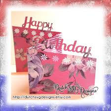 birthday card cutting file happy birthday in jpg png svg eps dxf