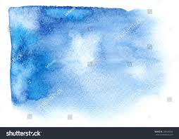 bright blue watercolor stain watercolour paint stock illustration