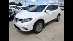 nissan suv 2016 white 2016 nissan rogue pearl white youtube