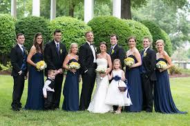 bill levkoff navy bridesmaid dresses
