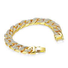 rhinestone chain bracelet images Fashion rhinestone bracelet hip hop bling link chain bracelet jpg
