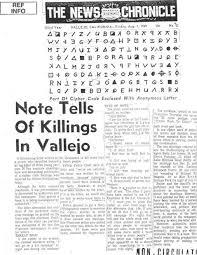 vallejo times letter zodiac ciphers