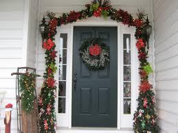 Banister Garland Ideas Front Door Garlands U0026 Halloween Deco Mesh Garland For The Front Door